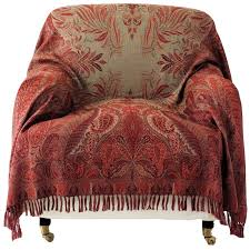 antique style paisley wool throw