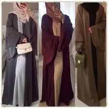 New Abaya Design 2019 Dubai 2019 Autumn Winter New Muslim Women Fashion Three Tier Bell Sleeve Open Cardigan Gown Dubai Abaya Kaftan Islamic Dress