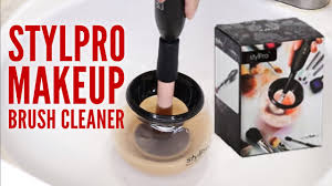 stylpro makeup brush cleaner unboxing tutorial best makeup brush cleaner