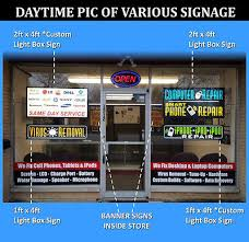 Mobile Phone Repair Led Signs Cell Computer Blue Light Box Neon