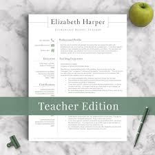 Teacher Resume Template For Word Pages 1 2 By Landeddesignstudio