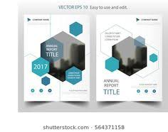 blue hexagon annual report leaflet brochure flyer template design book cover layout design abstract