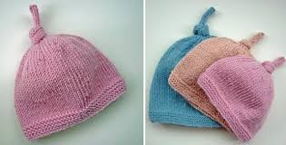 Baby Hat Pattern Extraordinary Knitted Tegan Top Knot Baby Hat [FREE Knitting Pattern]
