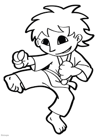 Small Picture Coloring page karate img 26042