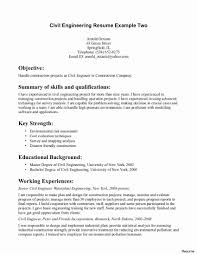 Civil Engineer Resume Sample Civil Engineer Sample Resume Fresh Electrical Engineering Resume 16