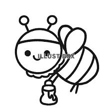 無料イラスト 白黒のミツバチ 透過png