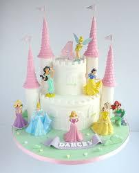 Disney Princesses Castle Birthday Cake In 2019 Disney Princess