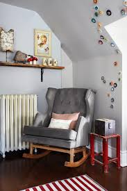 cotton rocking chairs with dark wood floor nursery contemporary and tufted rocking chairs