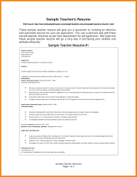 66 Teacher Resume Examples Middle Resume Example Latest