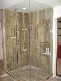awesome frameless pivot shower door for corner shower