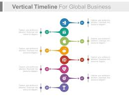 Vertical Timeline Powerpoint Vertical Timeline For Global Business Success Analysis Flat