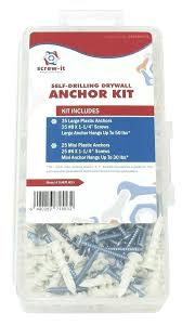 Plastic Wall Anchor Sizes New Self Drilling Drywall Hollow