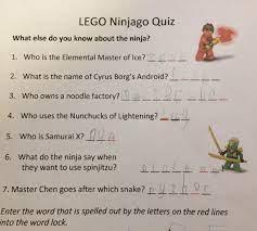 LEGO Ninjago clue I made to use with Breakout EDU locks app (word lock)  which then gave code for 3-digit lock… | Ninjago geburtstag, 6. geburtstag,  Kindergeburtstag