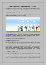 New India Health Insurance Policy Premium Chart Insurance Plans New India Assurance Health General Company