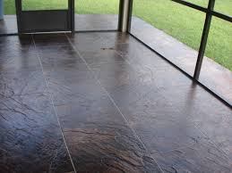 image of screened porch flooring over concrete