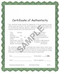 Certificate Of Authenticity How Valuable Is It For Artists And