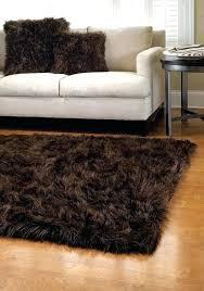black faux sheepskin rug 5 x 7 shape long hair black faux sheepskin rug