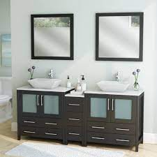 Wade Logan Karson Framed 72 Double Bathroom Vanity Set With Mirror Reviews Wayfair