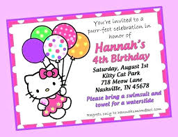 Printable Hello Kitty Invitations Personalized Hello Kitty Birthday Party Ideas Invitations Guluca