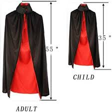 <b>Halloween</b> Adult/Child Ladies <b>Double Layer</b> Black and Red ...