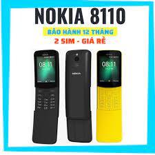 Mã INCUBACK1519 hoàn 20K xu đơn 0Đ] Điện thoại hình trái chuối độc đáo  Nokia 8110 4G (China)