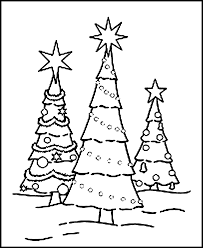 Christmas Tree Coloring Pages Free Printable For Kids 24593002