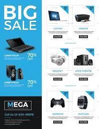 Electronic Brochure Template Electronic Big Sale Flyer Template Sale Flyer Mailer