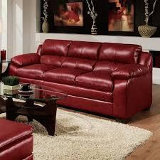 jeremy soho cardinal red bonded leather sofa