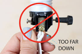 if you have long dangling wire that is sticking down below the socket it increases the risk of live metal touching something that isn t insulated