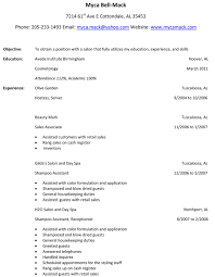 Resume Objective For Hairstylist Free Resume Example And Writing