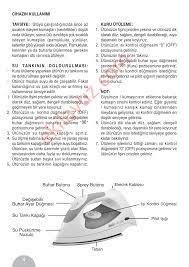 Fakir IDA 100 Ütü - Kullanma Kılavuzu - Sayfa:3 - ekilavuz.com