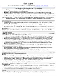 Success Resumes Example Resumes Professional Resume Writing Services