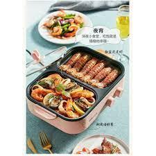 Bếp lẩu nướng Bếp điện 2 ngắn Bear DHG-C10G2 đa năng cao cấp CÔNG NGHỆ HQ  (2 in 1) HÀNG NỘI ĐỊA