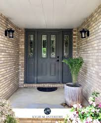 exterior door painting ideas. Fine Ideas Amherst Gray Benjamin Moore Front Door With Brick On Exterior Kylie M  INteriors Color Expert With Exterior Door Painting Ideas