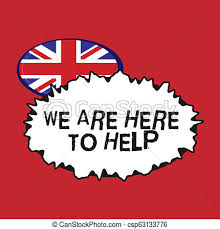 Writing Note Showing We Are Here To Help Business Photo Showcasing Someone Who Is Always Ready To Assist Support Give
