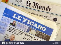 le figaro stock photos le figaro stock images alamy french national newspapers le monde le figaro stock image