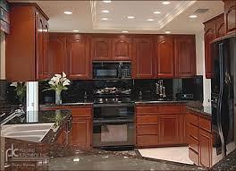 cherry kitchen cabinets black granite. cherry cabinets black appliances | kitchen design granite home designs idea i