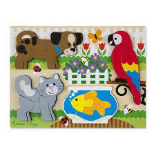 pets chunky wooden jigsaw puzzle