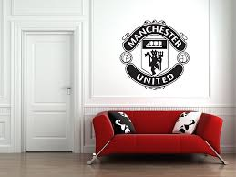manchester united badge football club logo wall art sticker decal large decor ebay on manchester united wall art with manchester united badge football club logo wall art sticker decal