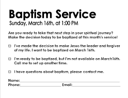 i give a detailed explanation of the gospel once a month and call for a decision by having people fill out a 3 5 baptism decision card