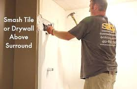 removing old bathtub smash tile above surround removing mold from bathtub grout