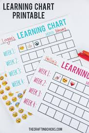 Best Diy Crafts Ideas Learning Chart Printable A Fun Way