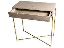 small console table with drawer. Small Console Table With Drawer Top In WEATHERED OAK BRASS FRAME By Gillmore Space S