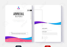 Annual Report Cover Template Design For Business Document Page