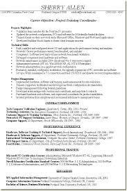 Training Coordinator Resume – Datainfo.info