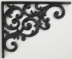 wall shelf bracket ornate vine pattern black cast iron 9 375 deep