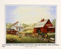 Us blackart Fineart Posters and Prints Sunny Days Farm