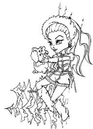 Small Picture Abbey Bominable Monster High Coloring Page Abbey Mominable