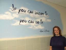 School Quotes For Walls Quotes She Is Painting On The Walls Of