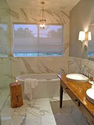 spa bathroom lighting. Side Table Completes The Tranquil Spalike Look In Bathroom Design Spa Lighting U